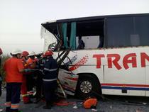 Accident rutier cu un autocar