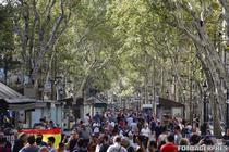 Catalanii au iesit la plimbare pe Rambla dupa atacul terorist
