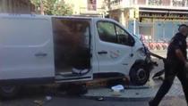 Duba cu care atacatorul a intrat in multime la Barcelona