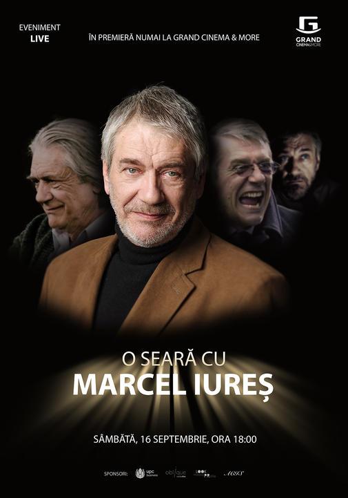 Afis - O seara cu Marcel Iures