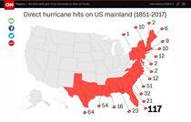 Numarul uraganelor care au ajuns in SUA