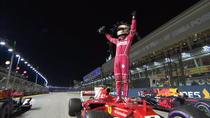 Sebastian Vettel, pole-position in Singapore