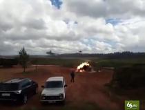 Elicopter rus trage rachete in apropierea observatorilor - Zapad-17