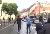 Sustinatorii lui Pomohaci ar fi agresat jurnalisti