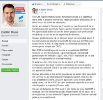 Catalin Drula, pe Facebook