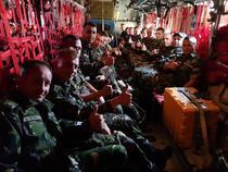 Militari dinBatalionul 911 Capidava, pe drum spre Georgia