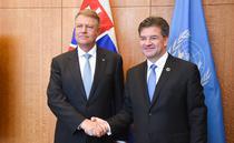 Iohannis si Lajcak la ONU
