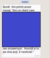 Mesaj spam pe WhatsApp