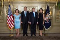 Klaus si Carmen Iohannis cu Donald si Melania Trump