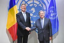 Klaus Iohannis si secretarul general al ONU, Antonio Guterres