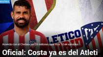 Diego Costa, din nou la Atletico Madrid