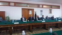 Imagine din timpul audierilor prim-viceguvernatorului BNR in Comisia economica din Senat