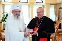 Patriarhul Daniel si cardinalul Leonardo Sandri