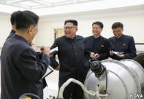 Kim Jong Un langa o presupusa bomba cu hidrogen