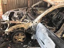 Masina jurnalistei, dupa ce a fost incendiata