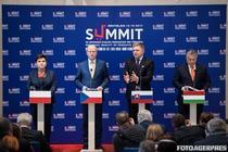 Premierii grupului de la Visegrad - Beata Szydlo (Polonia), Bohuslav Sobotka (Cehia), Robert Fico (Slovacia), Viktor Orban (Ungaria)