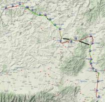Traseul caii ferate modernizate intre Brasov si Sighisoara