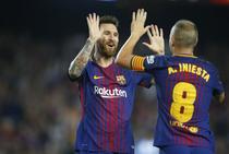 Lionel Messi si Andres Iniesta