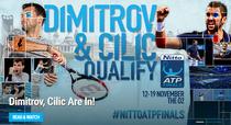 Dimitrov si Cilic, la Turneul Campionilor de la Londra