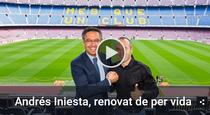 Iniesta si Bartomeu, pe Camp Nou