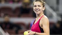 Simona Halep, zambind dupa meciul cu Jelena Ostapenko