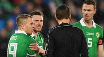 Ovidiu Hategan, la meciul Irlanda de Nord - Elvetia