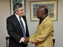 Jack Warner, fost vicepresedinte FIFA (dreapta)