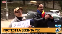 protest la Herculane