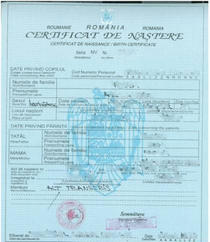 Certificat de nastere