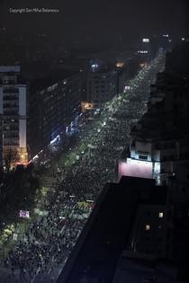 Bd. Balcescu si Magheru ocupate in intregime. 26 noiembrie 2017
