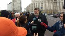 Bogdan Hossu la protest