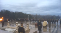 Ceremonie la Monumentul Ostasului Necunoscut