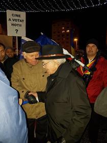 Mihai Sora la proteste in Iasi