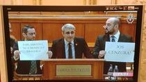 Deputatii PMP protesteaza in frunte cu Robert Turcescu