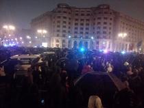 Jandarmii au blocat accesul spre Parlament