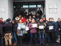 Protestul magistratilor la Brasov