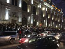 Sute de magistrati protesteaza in Bucuresti