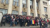 Protest al studentilor la Drept