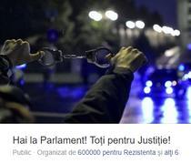 Protest la Parlament