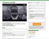 Petitia 'Toti pentru Justitie'