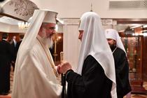 Patriarhii Daniel si Kiril la Moscova