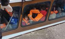 Ambarcatiune cu imigranti, depistata la sfarsitul lunii noiembrie in Marea Neagra