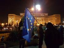 Protest ad hoc la Parlament