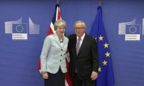 Theresa May si Jean-Claude Juncker