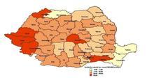 Distributia geografica a incidentei rujeolei, 2016-2017