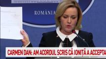 Carmen Dan arata acordul chestorului Ionita de a fi numit sef al Politiei Romane