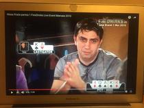 Bogdan Stan la un turneu de poker