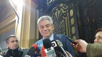Mihai Tudose la iesirea din sediul PSD