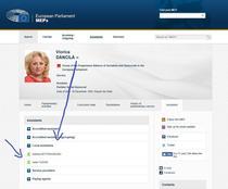 Captura de pe site-ul Parlamentului European