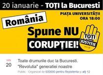 """Protestul """"Toate drumurile duc la Bucuresti"""""""